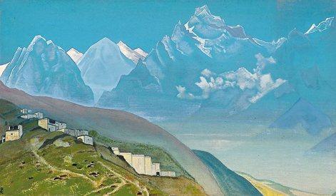 Way to Kailash. Lahul. 1932